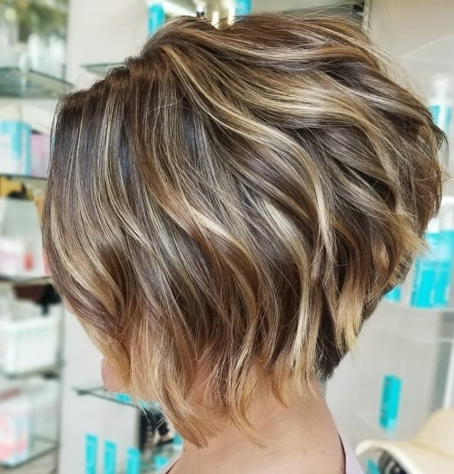 Hairstyle: Delightful Short Stacked Haircuts Gallery Layered Stacked With 2018 Balayage Pixie Hairstyles With Tiered Layers (View 23 of 25)