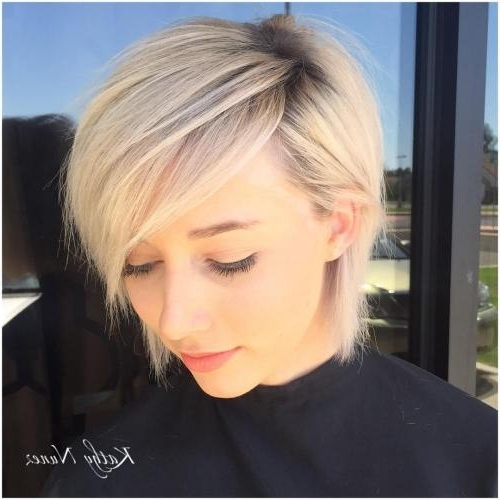 Hairstyle: Excellent Short Chic Hairstyles Collection Short Curly For Best And Newest Side Parted Silver Pixie Bob Hairstyles (View 7 of 25)