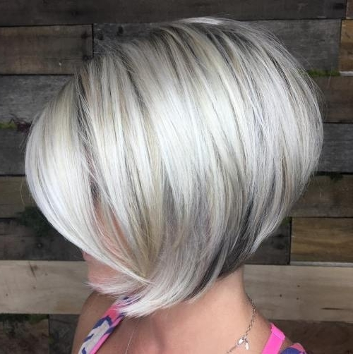 Hairstyle: Excellent Short Chic Hairstyles Collection Women's Short Throughout Short Silver Blonde Bob Hairstyles (View 22 of 25)