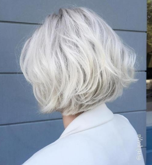 Hairstyle: Excellent Short Chic Hairstyles Collection Women's Short Within Long Blonde Bob Hairstyles In Silver White (View 23 of 25)