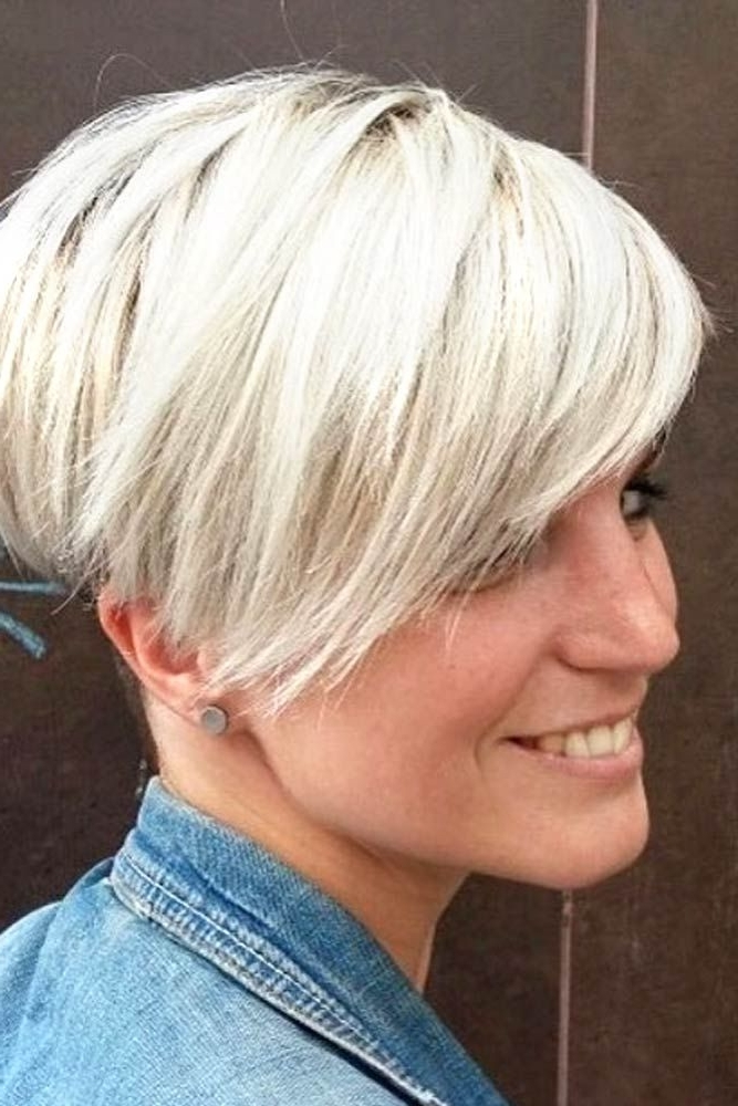 Hairstyle For Round Faces Women   Wedge Hairstyles Long   Pinterest Regarding Most Popular Pixie Wedge Hairstyles (View 16 of 25)