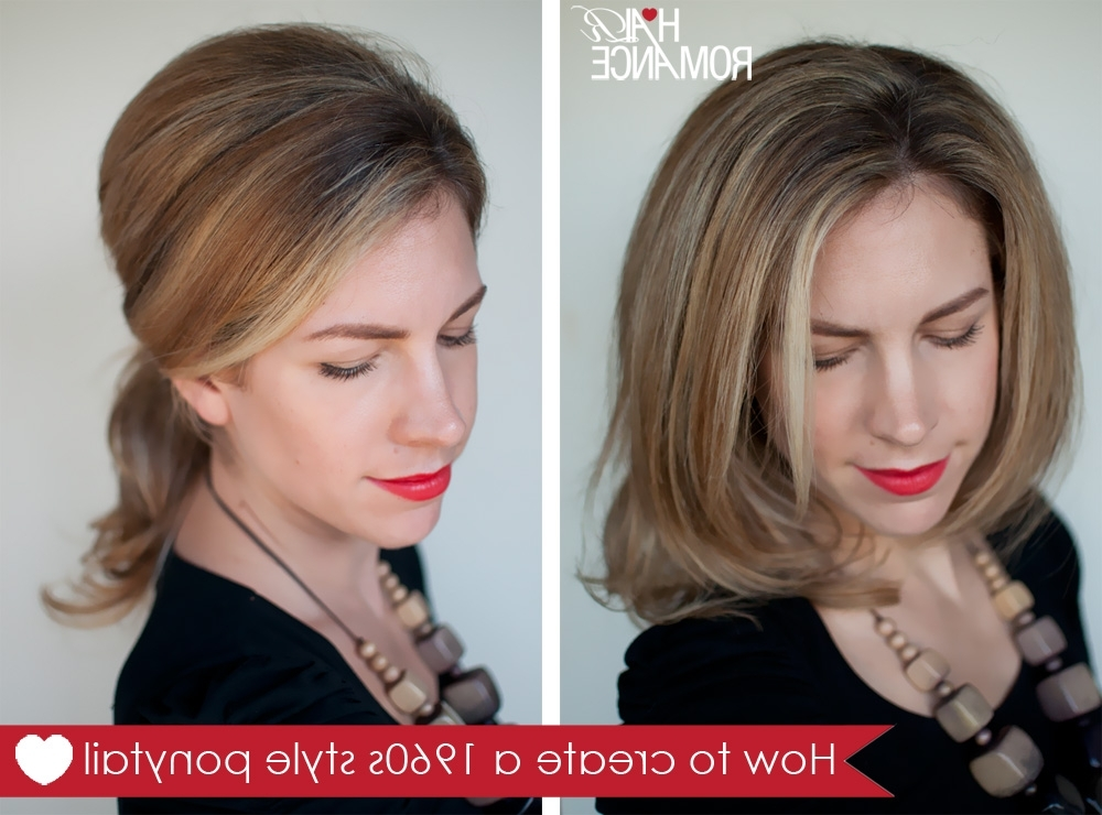 Hairstyle How To: Create A 1960S Style Ponytail – Hair Romance For Bardot Pony Hairstyles (View 6 of 25)