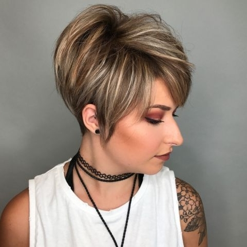 Hairstyle: Magnificent Short Layered Bob Haircuts Ideas Cute Short Pertaining To 2018 Stacked Pixie Bob Hairstyles With Long Bangs (View 9 of 25)