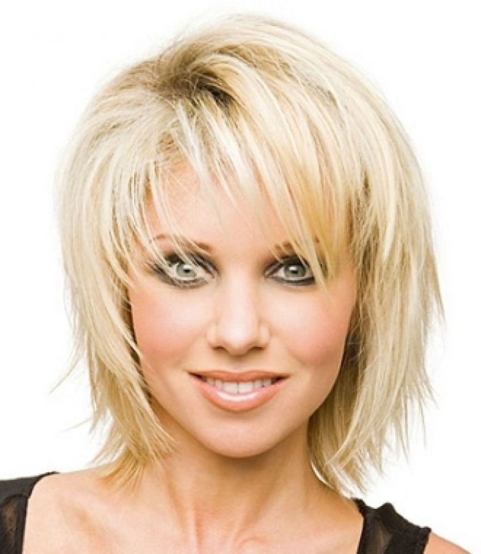 Hairstyle: Shocking Short Haircuts With Long Bangs Long Bangs And Regarding Shaggy Chin Length Blonde Bob Hairstyles (View 25 of 25)