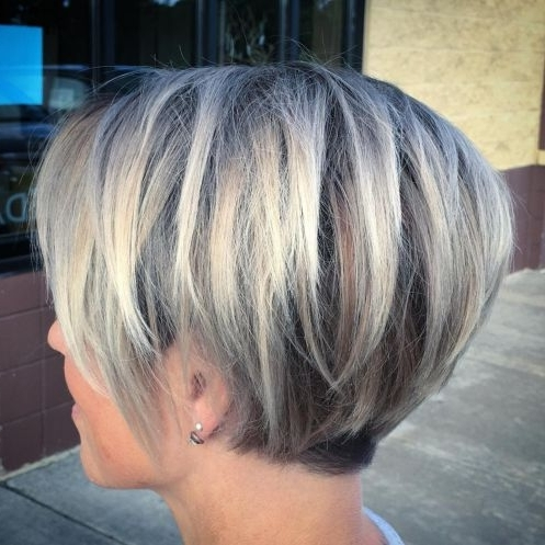 Hairstyle: Stunning Short Layered Hairstyles For Fine Hair Gallery Pertaining To Rooty Long Bob Blonde Hairstyles (View 15 of 25)