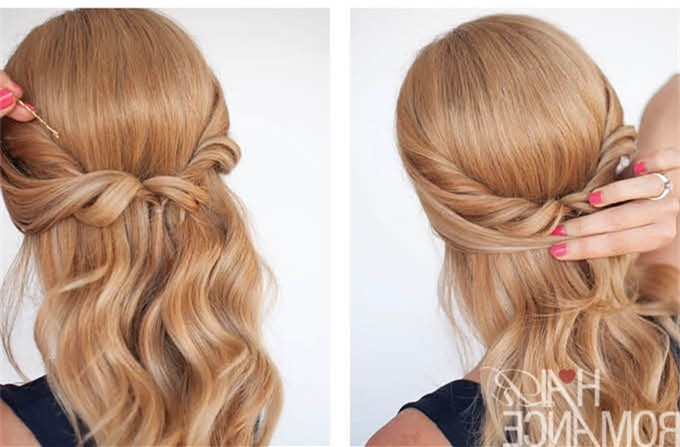 Hairstyle Tutorial—Easy And Awesome Half Up Twist Intended For Romantic Twisted Hairdo Hairstyles (View 14 of 25)