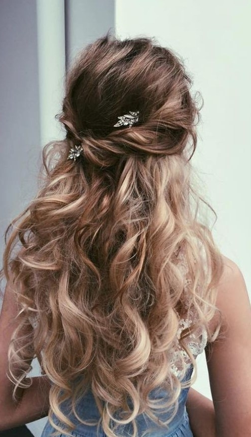 Hairstyles For Dances 18 Elegant Hairstyles For Prom 12 Bohemian In Formal Half Ponytail Hairstyles (View 9 of 25)