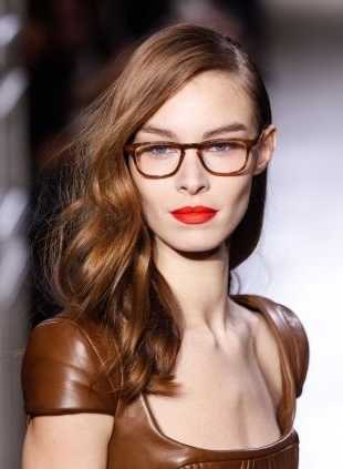 Hairstyles For Glasses: Sleek Ponytail Vs Side Swept Waves Inside Sleek Ponytail Hairstyles With Waves (View 20 of 25)