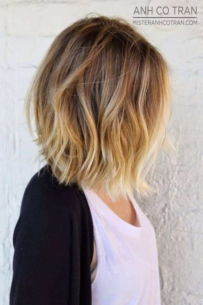 Hairstyles For Wavy Thick Hair Beautiful Medium Length Blonde Ombre With Regard To Shoulder Length Ombre Blonde Hairstyles (View 11 of 25)