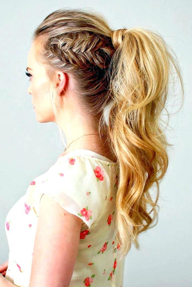 Hairstyles With Ponytails A High Ponytail Is Trendy This Season Once With Regard To High Ponytail Hairstyles With Side Bangs (View 24 of 25)