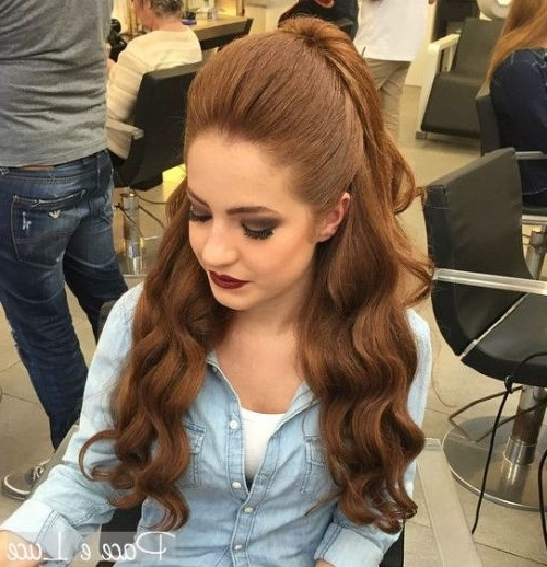 Half Ponytail Hairstyles For 2018 – New Hairstyles 2017 For Long Throughout Bouffant And Braid Ponytail Hairstyles (View 24 of 25)