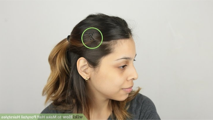 Half Up Curly Hairdo How To Make Half Ponytail Hairstyles 14 Steps Regarding Half Up Curly Do Ponytail Hairstyles (View 20 of 25)