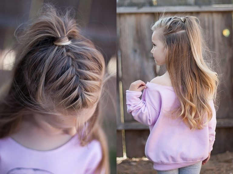 Half Up French Braid | High Ponytail | Cgh Lifestyle | Beauty Tips With Perfectly Undone Half Braid Ponytail (View 7 of 25)