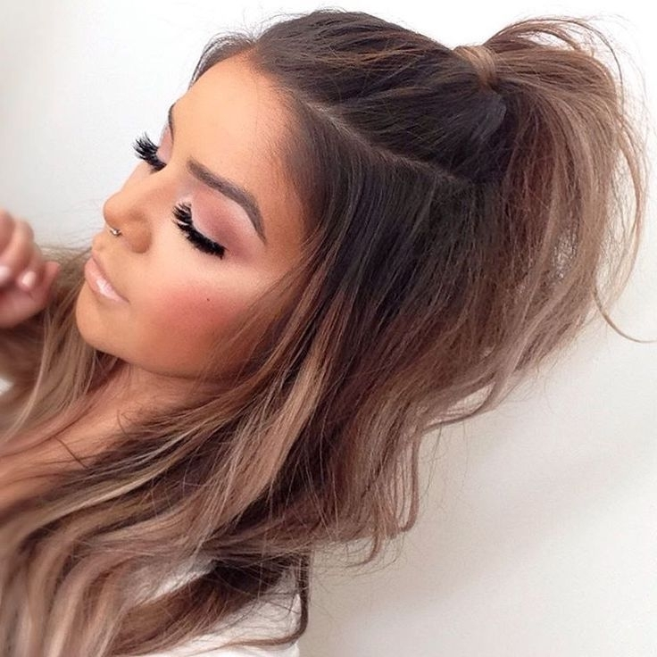 Half Up | Hair In 2018 | Pinterest | Hair Style, Makeup And Hair Makeup With Two Toned Pony Hairstyles For Fine Hair (View 21 of 25)