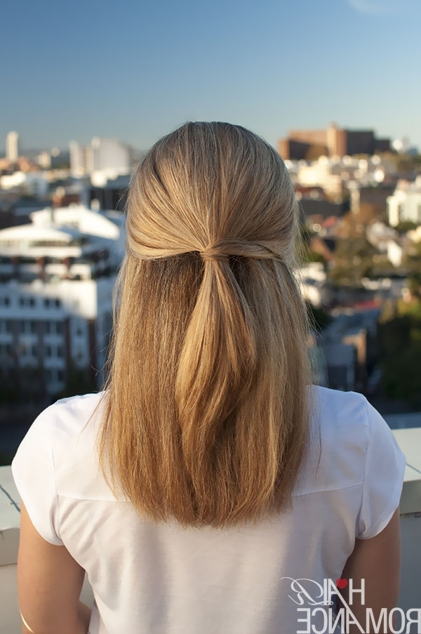 Half Up Hairstyle Inspiration – Hair Romance Throughout Casual Half Up Ponytail Hairstyles (View 17 of 25)