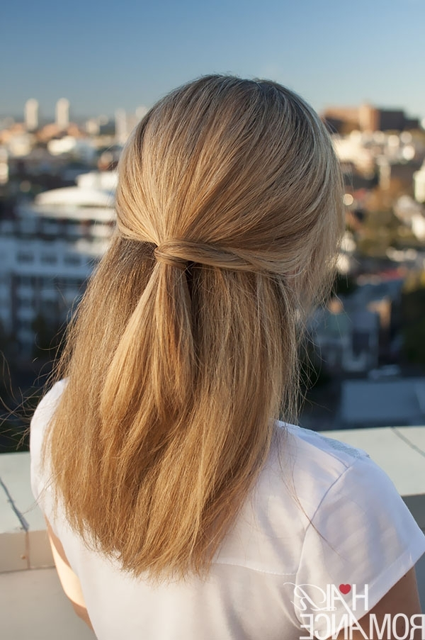Half Up Hairstyle Inspiration – Hair Romance Throughout Soft Half Up Ponytail Hairstyles (View 19 of 25)