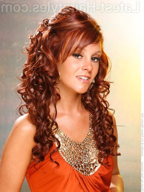 Half Up Half Down Prom Hairstyles – Pictures And How To's With Regard To Half Up Curly Do Ponytail Hairstyles (View 10 of 25)