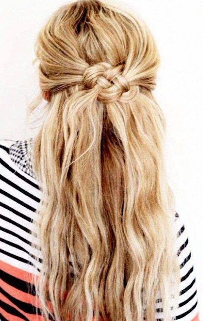 Half Up Half Down Wedding Hairstyles | Inspiring Wedding Hair Regarding Perfectly Undone Half Braid Ponytail (View 18 of 25)