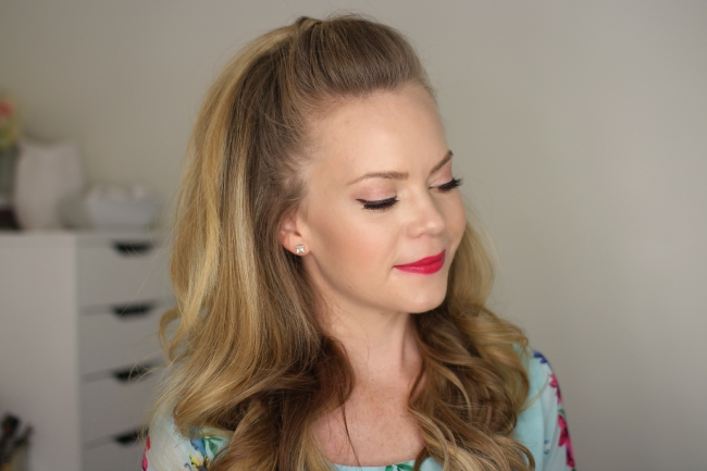 Half Up High Ponytail Intended For Half Up Half Down Ponytail Hairstyles (View 17 of 25)