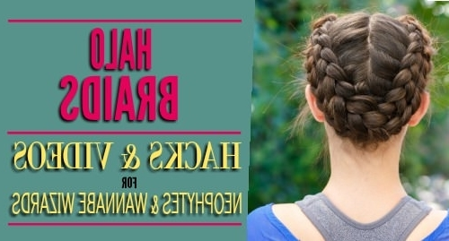 Halo Braids: Hacks And Videos For Neophytes And Wannabe Braiding Regarding Reverse French Braids Ponytail Hairstyles With Chocolate Coils (View 21 of 25)