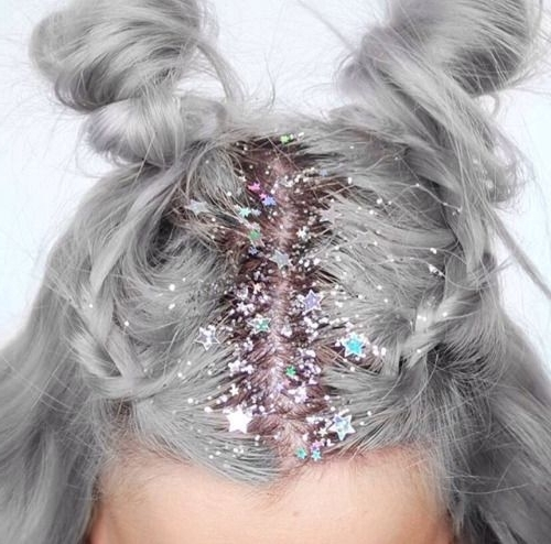 Haute Vanity   Concede To Frock   Pinterest   Glitter Roots, Star With Regard To Glitter Ponytail Hairstyles For Concerts And Parties (View 7 of 25)