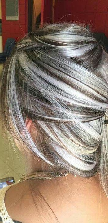 Heavy Platinum Highlights With Rich Chocolate Brown Lowlights (No For Light Chocolate And Vanilla Blonde Hairstyles (View 23 of 25)