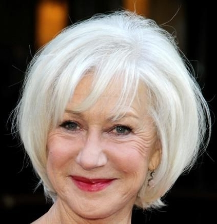 Helen Mirren Wedge Hairstyle – Casual, Evening, Everyday, Formal Regarding Casual And Classic Blonde Hairstyles (View 18 of 25)