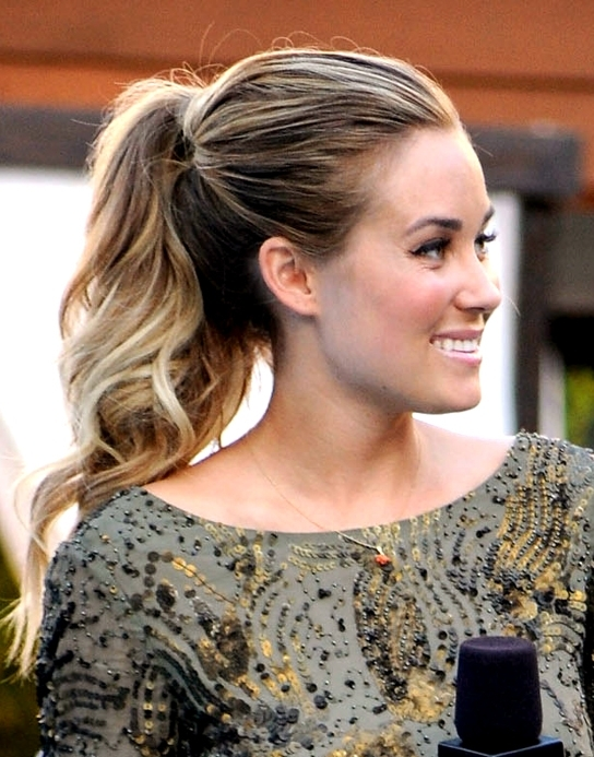 Here's How You Can Copy Lauren Conrad's Fun 'hills' Finale Ponytail Throughout Messy Waves Ponytail Hairstyles (View 18 of 25)