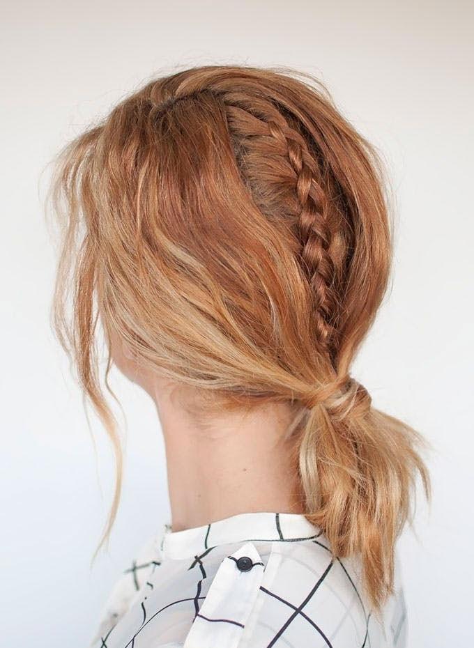 Hidden Braid Bob Hairstyle | Hair | Pinterest | Lob Hairstyle, Lob Throughout Hidden Braid Hairstyles (View 14 of 25)