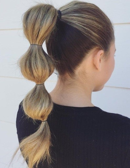 High Bubble Ponytail | Best Hairstyles For School 2018 | Pinterest With High Bubble Ponytail Hairstyles (View 4 of 25)