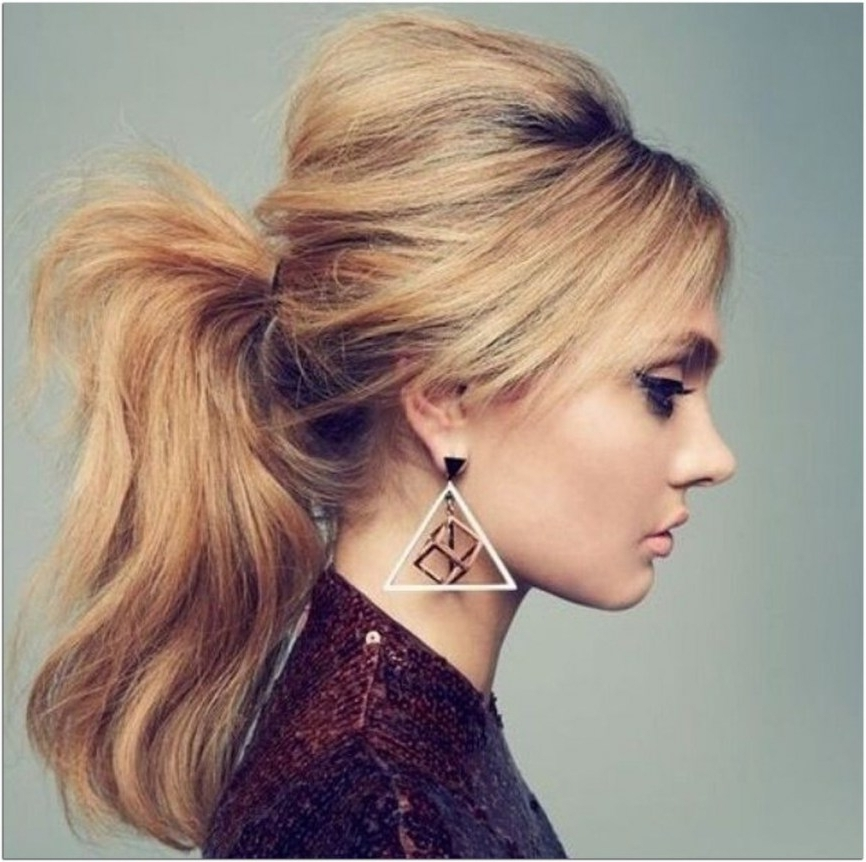 High Ponytail Hairstyles Bump High Ponytail Hairstyles Bump Regarding Ponytail Hairstyles With Bump (View 15 of 25)