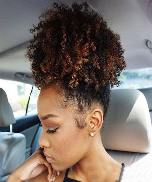 High Ponytail With Long Golden Coils (View 20 of 25)