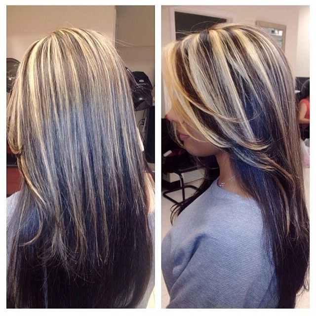 Highlights To Cover Grey In Brown Hair – Yahoo Search Results Intended For Dark Brown Hair Hairstyles With Silver Blonde Highlights (View 10 of 25)