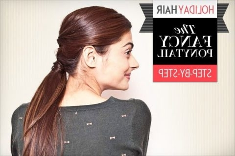 Holiday Hair: 5 Easy Steps To Creating A Fancy Ponytail That's Party Intended For Fancy Sleek And Polished Pony Hairstyles (View 20 of 25)
