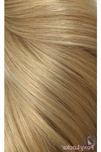 """Honey Blonde #22 – Luxurious 24"""" Clip In Human Hair Extensions 280G For Dark Locks Blonde Hairstyles With Caramel Highlights (View 20 of 25)"""