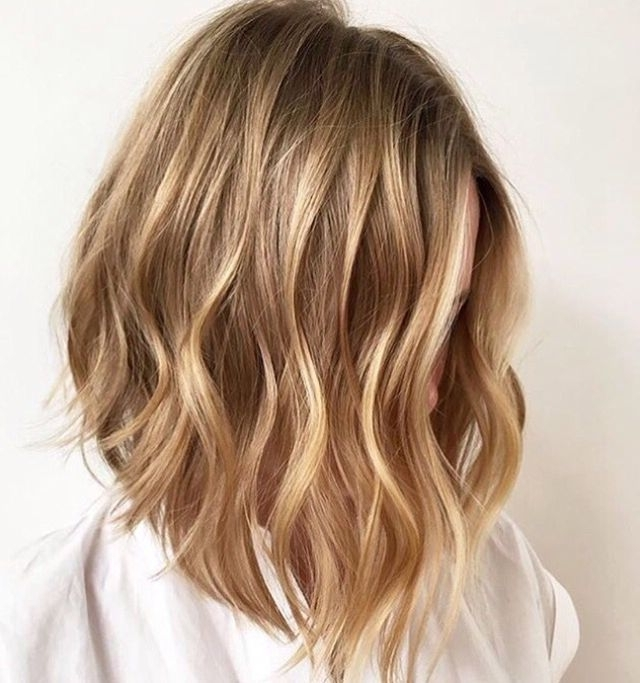 Honey Blonde Balayage | Hair | Pinterest | Blonde Balayage, Balayage For Honey Hued Beach Waves Blonde Hairstyles (View 18 of 25)