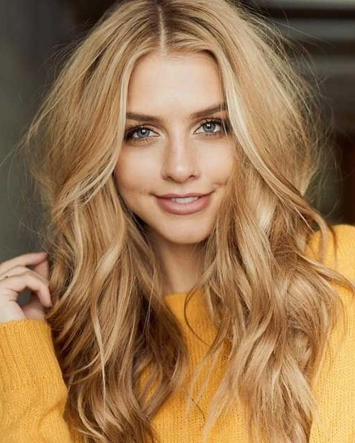 Honey Blonde Hair Colors For Long Hairstyles 2017 – Styles Art With Medium Honey Hued Blonde Hairstyles (View 18 of 25)