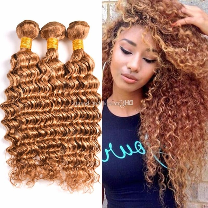 Honey Blonde Peruvian Hair Deep Wave 3 Bundle Deals Hot Sale #27 Regarding Sexy White Blond Weave Ponytail Hairstyles (View 22 of 25)