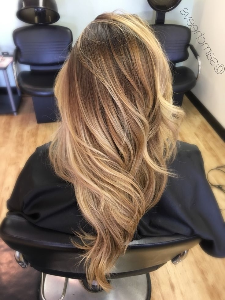 Honey Platinum White Blonde Sandy Warm Tones // Long Haircut With Pertaining To Blonde Color Melt Hairstyles (View 19 of 25)