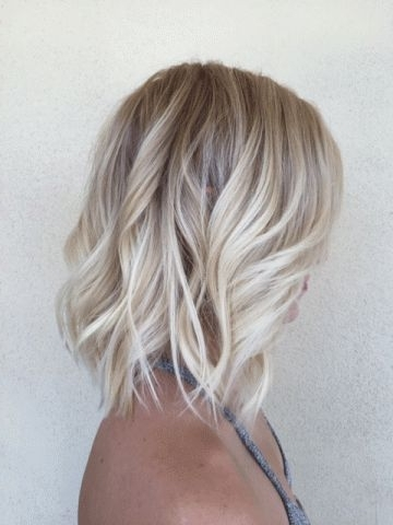 Hot Blonde Lob – Hair Color | Cute Hairstyles? | Pinterest With Icy Waves And Angled Blonde Hairstyles (View 5 of 25)
