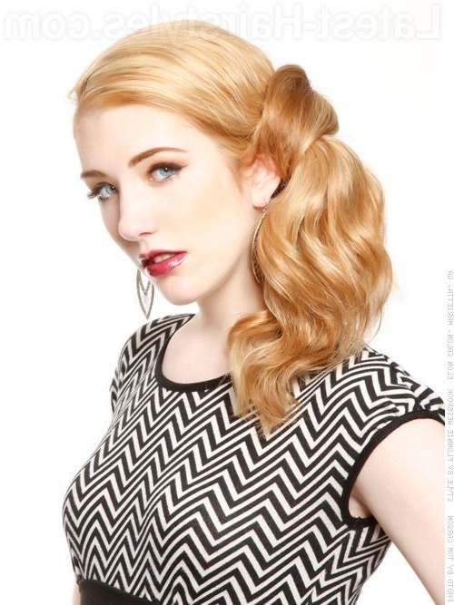 Hot Hair Alert: New Hair Colors For Fall! (Pics And Tutorials With Regard To Soft Half Up Ponytail Hairstyles (View 22 of 25)