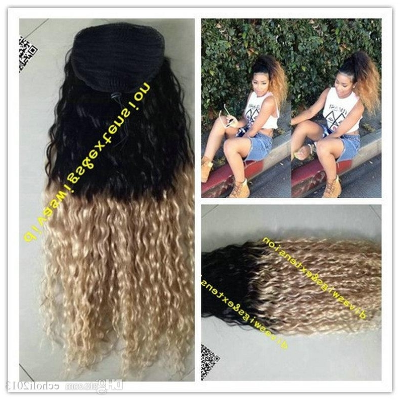 Featured Photo of Ombre Curly Ponytail Hairstyles