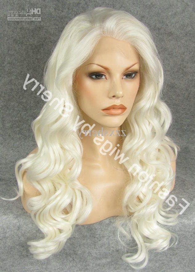 Hot Sale! S07 24 Long #1001 White Blonde Heavy Density Heat In Sexy White Blond Weave Ponytail Hairstyles (View 18 of 25)