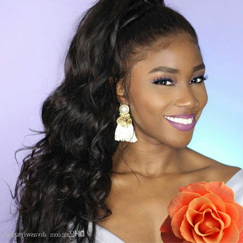 Hot Sell Wrap Around Human Hair Ponytail Extensions Curl Body Wave With Regard To Jet Black Pony Hairstyles With Volume (View 19 of 25)