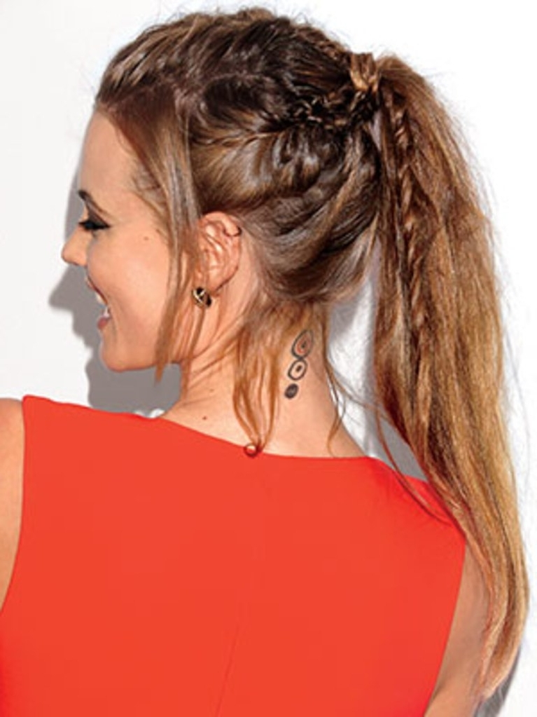 How To Braid The New Fishtail | Allure Within Braided Millennial Pink Pony Hairstyles (View 4 of 25)