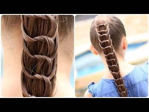 How To Create A Knotted Ponytail | Cute Hairstyles – Youtube Regarding Braided And Knotted Ponytail Hairstyles (View 3 of 25)