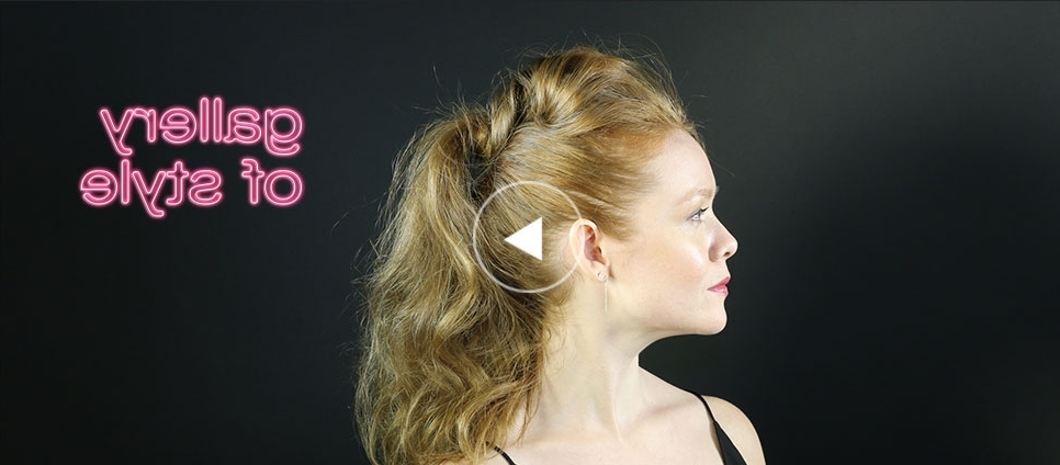 How To Create A Pumped Up Ponytail | Shu Uemura Art Of Hair® With Regard To Pumped Up Messy Ponytail Hairstyles (View 9 of 25)