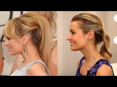 How To Create Nicole Richie's Retro Ponytail Look – Youtube Inside Cascading Ponytail Hairstyles (View 6 of 25)