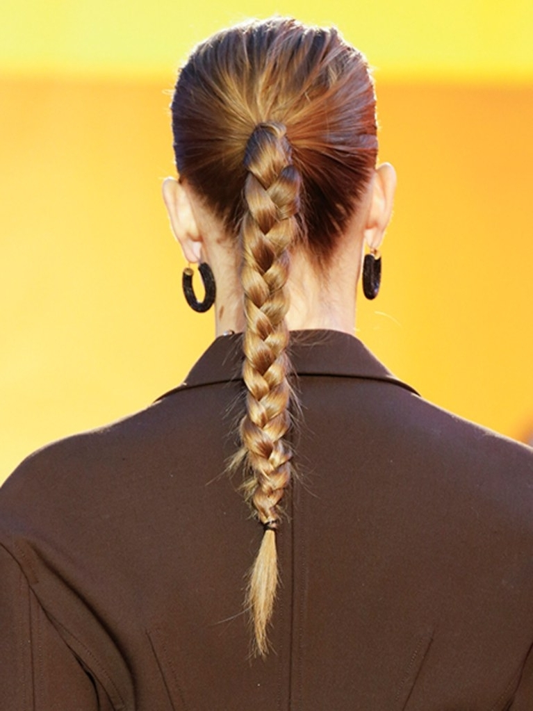 How To Create This Easy Braided Ponytail | Allure Intended For Braided Boho Locks Pony Hairstyles (View 14 of 25)