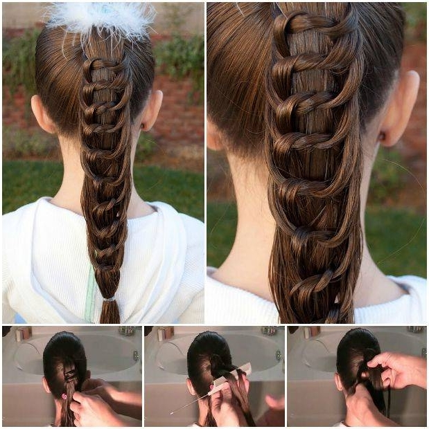 How To Diy Pretty Knotted Ponytail Hairstyle Within Braided And Knotted Ponytail Hairstyles (View 2 of 25)